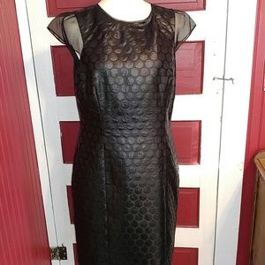 Antonio Melani Black Faux Leather Dress 12